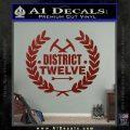 Hunger Games Decal Sticker District 12 DRD Vinyl Black 120x120