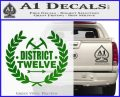 Hunger Games Decal Sticker District 12 Green Vinyl Black 120x97