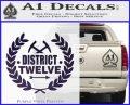 Hunger Games Decal Sticker District 12 Purple Vinyl Black 120x97