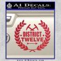 Hunger Games Decal Sticker District 12 Red Vinyl Black 120x120