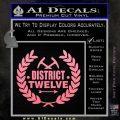 Hunger Games Decal Sticker District 12 Soft Pink Emblem Black 120x120