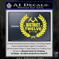 Hunger Games Decal Sticker District 12 Yellow Vinyl Black 120x120