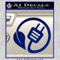 Hybrid Power Decal Sticker Volt Prius Blue Vinyl 120x120