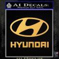 Hyundai Decal Sticker Full Gold Vinyl 120x120