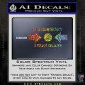 In Emergency Break Glass Decal Sticker Glitter Sparkle 120x120