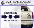 In Emergency Break Glass Decal Sticker PurpleEmblem Logo 120x97