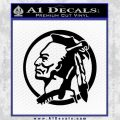Indian Warrior Decal Sticker Black Vinyl 120x120