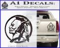 Indian Warrior Decal Sticker Carbon FIber Black Vinyl 120x97