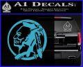 Indian Warrior Decal Sticker Light Blue Vinyl 120x97