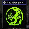 Indian Warrior Decal Sticker Lime Green Vinyl 120x120