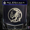 Indian Warrior Decal Sticker Metallic Silver Emblem 120x120
