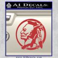 Indian Warrior Decal Sticker Red 120x120