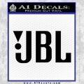 JBL Decal Sticker Black Vinyl 120x120