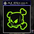 JDM Horror Skull D1 Decal Sticker Lime Green Vinyl 120x120