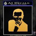 James Bond 007 Sean Connery Decal Sticker Gold Vinyl 120x120
