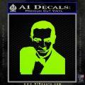 James Bond 007 Sean Connery Decal Sticker Lime Green Vinyl 120x120