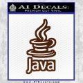 Java Script Code D2 Decal Sticker BROWN Vinyl 120x120