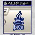 Java Script Code D2 Decal Sticker Blue Vinyl 120x120