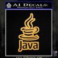Java Script Code D2 Decal Sticker Gold Vinyl 120x120