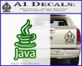 Java Script Code D2 Decal Sticker Green Vinyl Logo 120x97