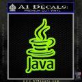 Java Script Code D2 Decal Sticker Lime Green Vinyl 120x120