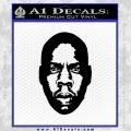 Jay Z Face 2 Decal Sticker Black Vinyl 120x120