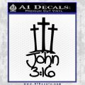 John 3 16 Decal Sticker Black Vinyl 120x120