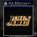 John 316 Decal Sticker Gold Vinyl 120x120