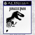 Jurassic Park Book Decal Sticker Black Vinyl 120x120