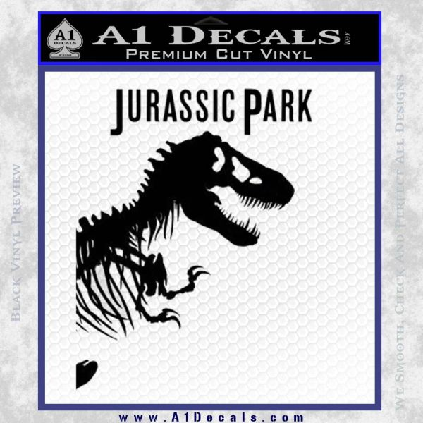 Jurassic Park Book Decal Sticker Black Vinyl