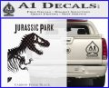 Jurassic Park Book Decal Sticker Carbon FIber Black Vinyl 120x97