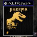 Jurassic Park Book Decal Sticker Gold Vinyl 120x120