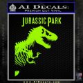 Jurassic Park Book Decal Sticker Lime Green Vinyl 120x120