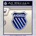 K SWISS Decal Sticker Blue Vinyl 120x120