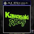 Kawasaki Racing Text Decal Sticker Lime Green Vinyl 120x120