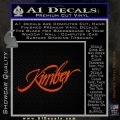 Kimber Firearms Decal Sticker Orange Emblem 120x120