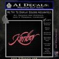 Kimber Firearms Decal Sticker Pink Emblem 120x120