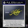 Kimber Firearms Decal Sticker Yellow Laptop 120x120