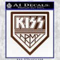 Kiss Army Decal Sticker BROWN Vinyl 120x120