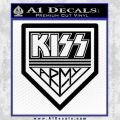 Kiss Army Decal Sticker Black Vinyl 120x120