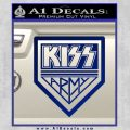 Kiss Army Decal Sticker Blue Vinyl 120x120