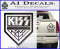 Kiss Army Decal Sticker Carbon FIber Black Vinyl 120x97