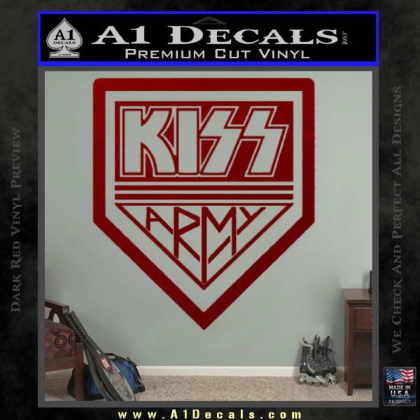 Kiss Army Decal Sticker DRD Vinyl