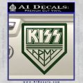 Kiss Army Decal Sticker Dark Green Vinyl 120x120