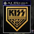 Kiss Army Decal Sticker Gold Vinyl 120x120