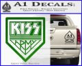 Kiss Army Decal Sticker Green Vinyl Logo 120x97