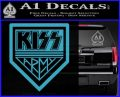 Kiss Army Decal Sticker Light Blue Vinyl 120x97