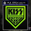Kiss Army Decal Sticker Lime Green Vinyl 120x120