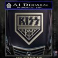Kiss Army Decal Sticker Metallic Silver Emblem 120x120