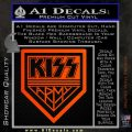 Kiss Army Decal Sticker Orange Emblem 120x120